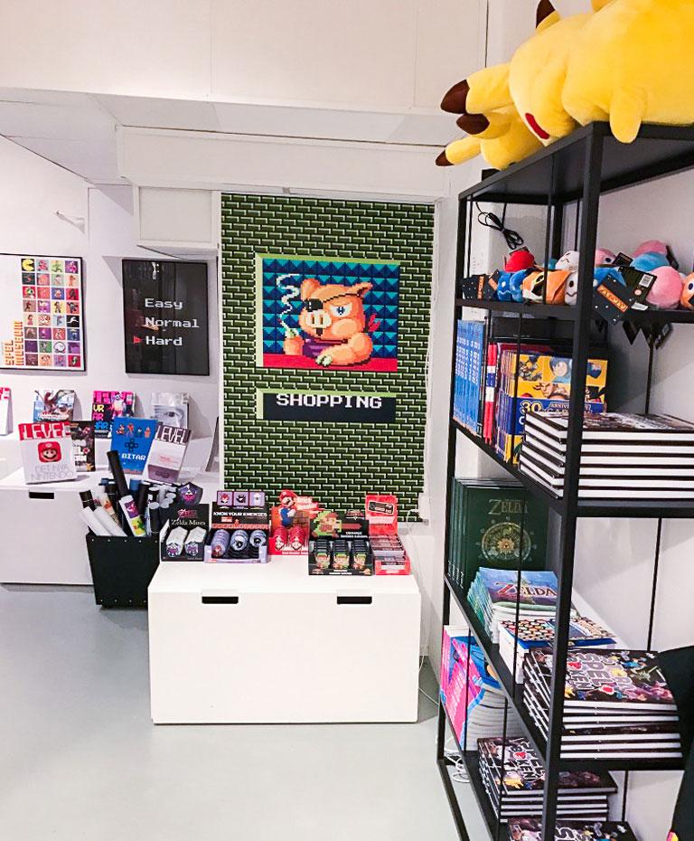 Shop at Stockholm's game musum