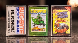 Vic Scramble, Chopper and Skips Action Biker Clumpsy Colin - VIC-20 and C64
