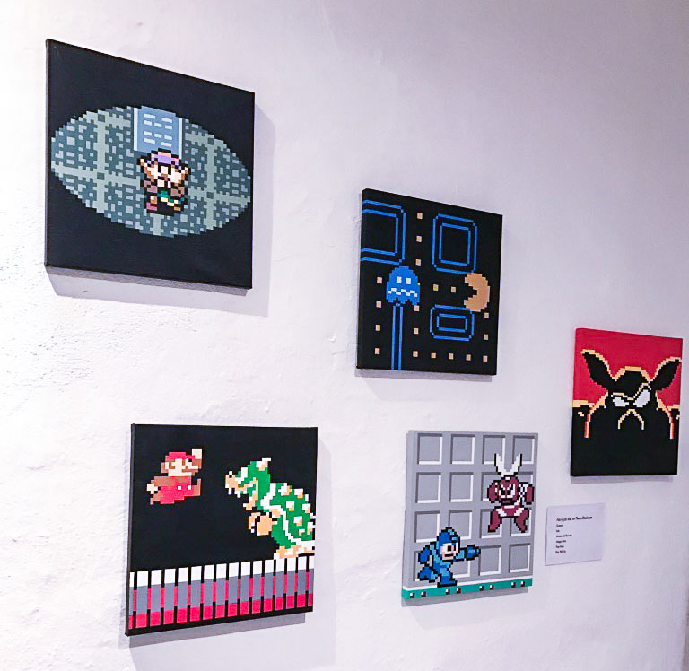Video game art at Stockholm's game museum