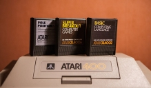 Atari 400 game cartridges