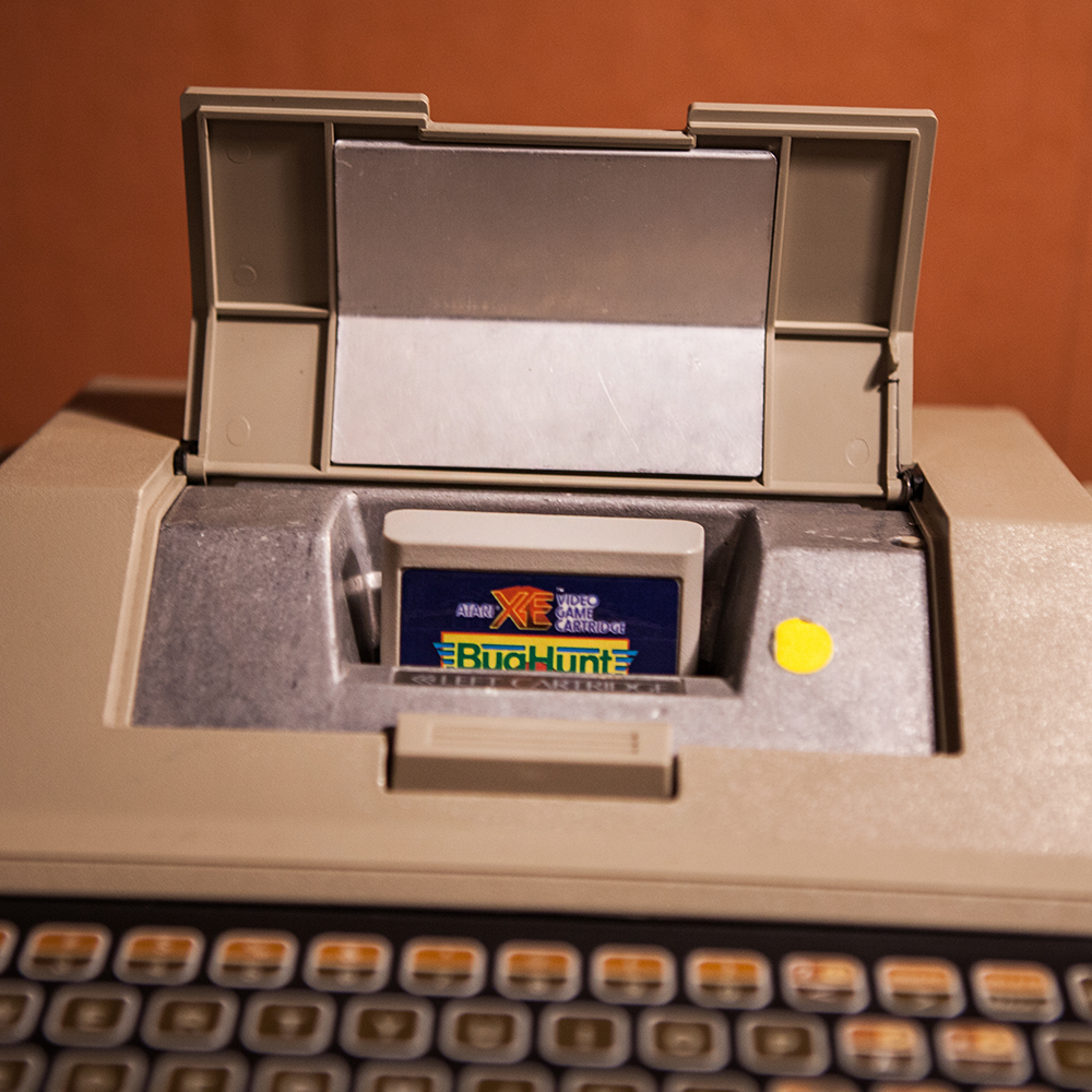 Atari 400 with Bug Hunt