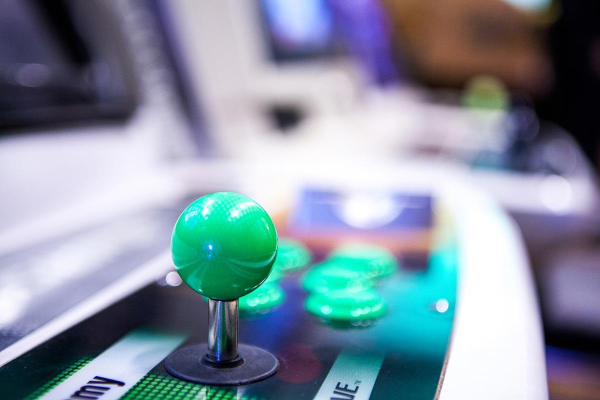 Atomiswave arcade green joystick