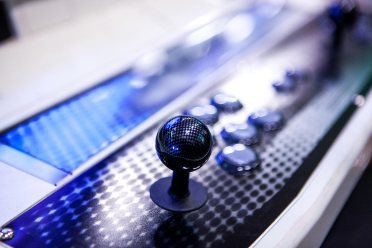 Black arcade joystick