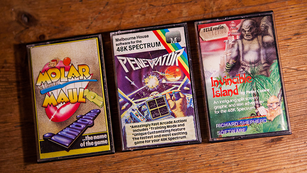 Molar Maul, Penetrator and Invincible Island for ZX Spectrum