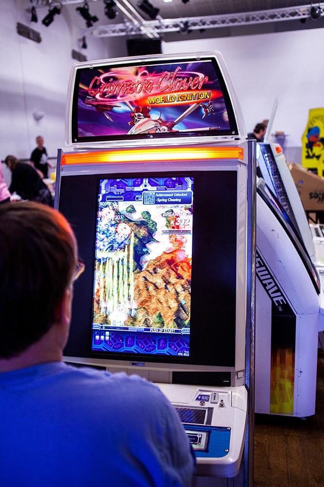 Bullet hell shmup on arcade