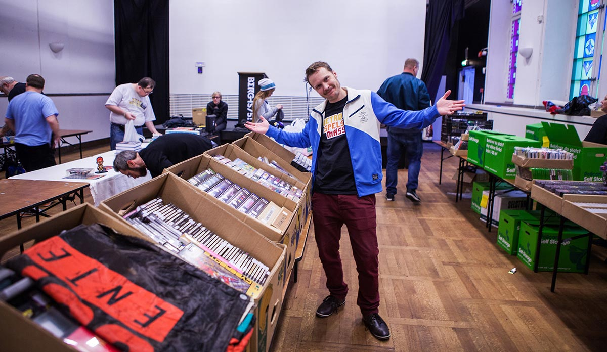 Sven666 at Retro Games convention Stockholm