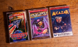 Thrust, Starlifter and Alcazar for C64