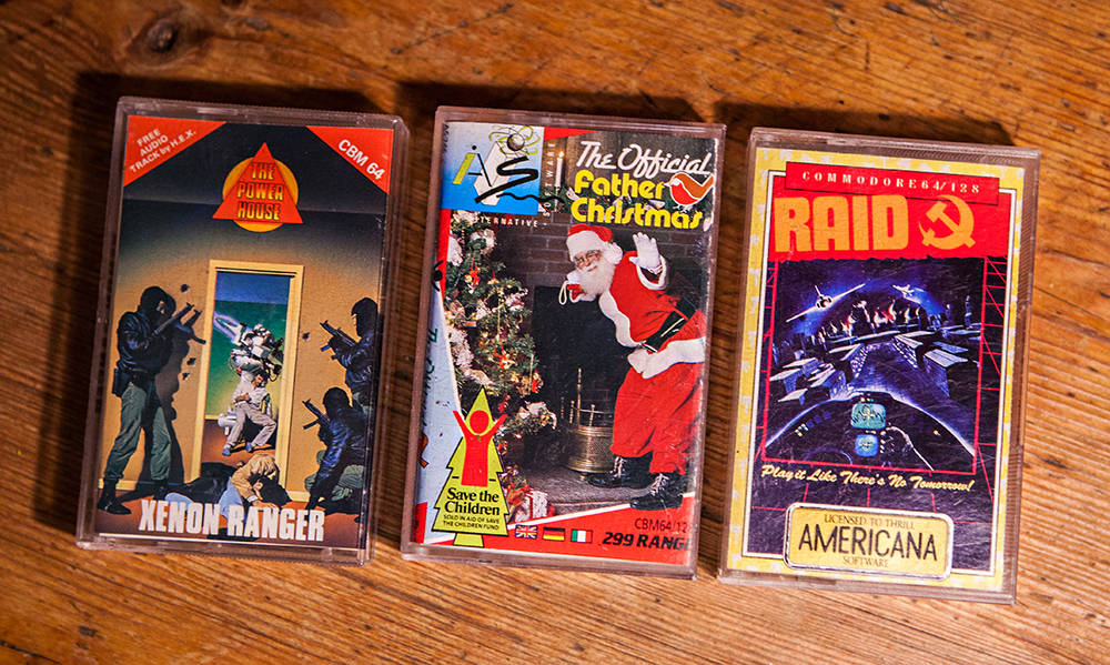 Xenon Ranger, The Official Father Christmas and Raid for C64