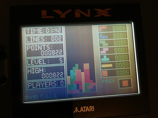 Atari Lynx T-Tris screenshot