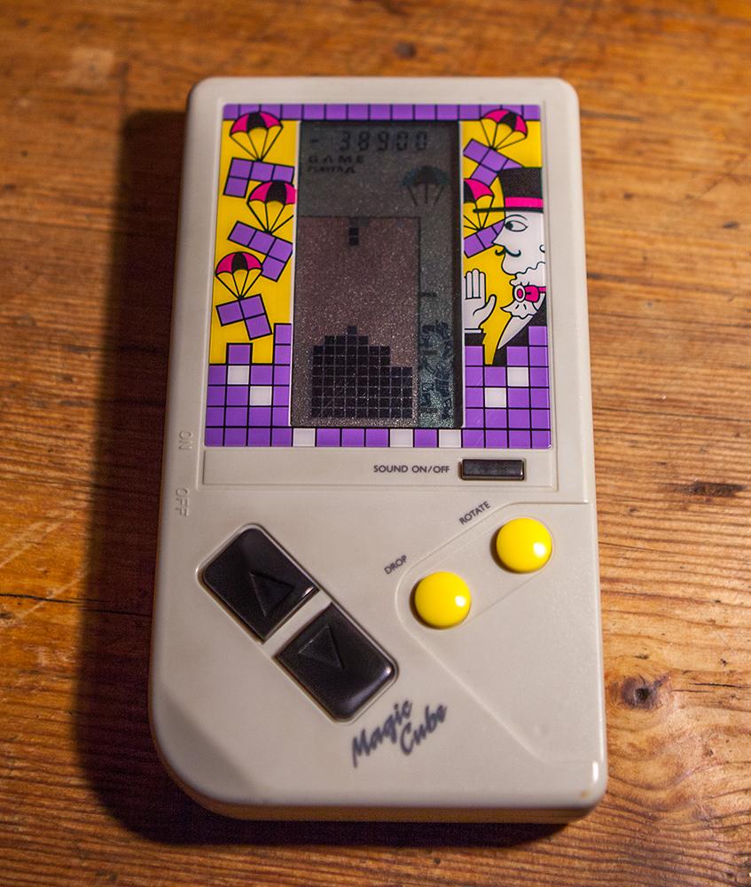 Magic Cube Tetris handheld Electronic Game