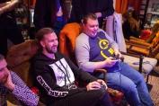 Christian and Klas battling it out in The Kick Boxing on Sega Mega Drive