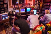 Competing in Spaceman Splorf on C64 at Retro Rumble