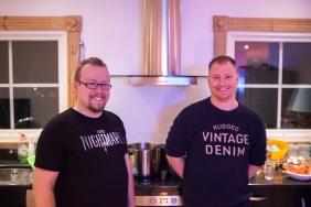 Happy kitcheners Andreas and David at Retro Rumble