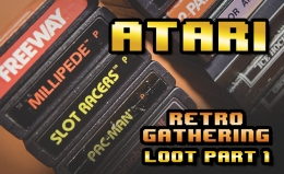 Various Atari 2600 carts & other Atari l00t from Retro Gathering VCE 2017