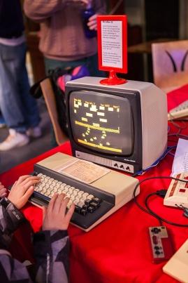 Hopper game on Microbee