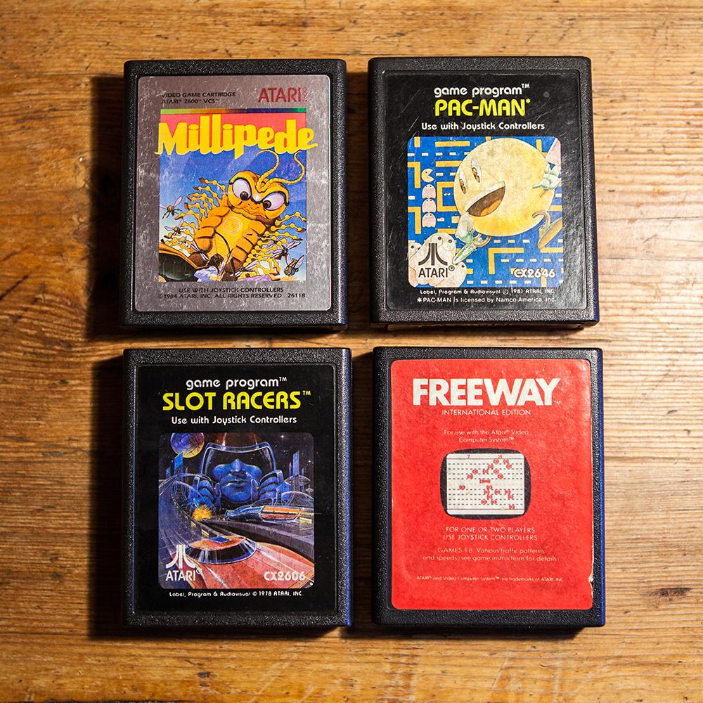 Millipede, Pac-man, Slot Racers and Freeway - Atari 2600