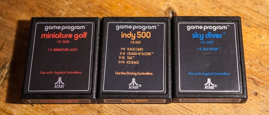 Miniature Golf, Indy 500 and Sky Diver - Atari 2600