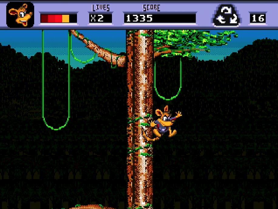 Awesome Possum jumping