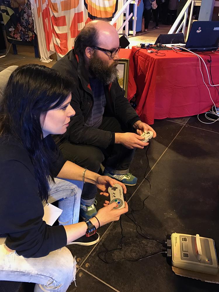 Heidi and Johan battling in Tetris