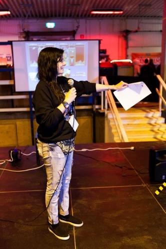 Heidi stopXwhispering hosting Tetris competition