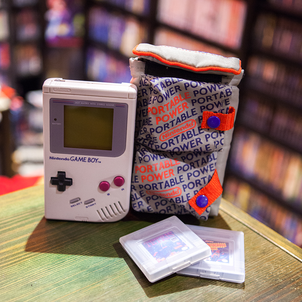 Nintendo Game Boy with case and games