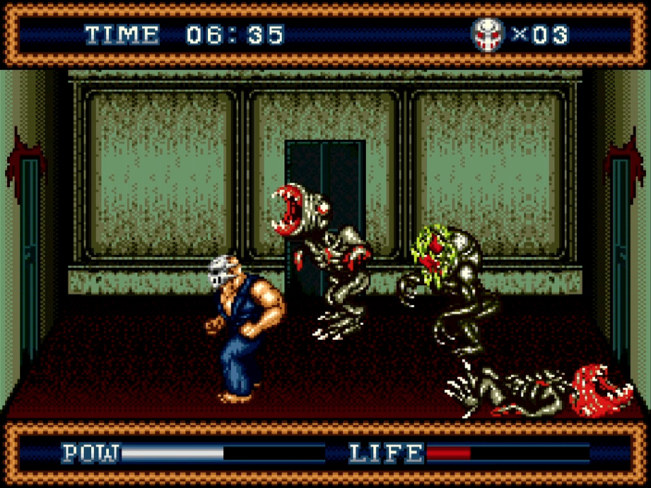 Splatterhouse Part 3 face decomposition