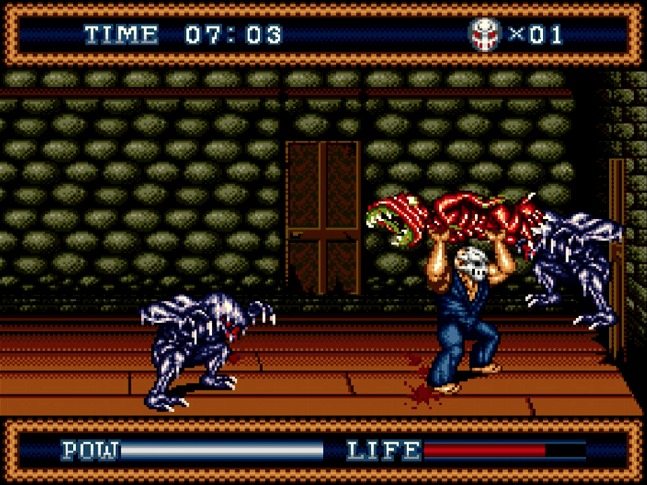Splatterhouse Part 3 monster toss!