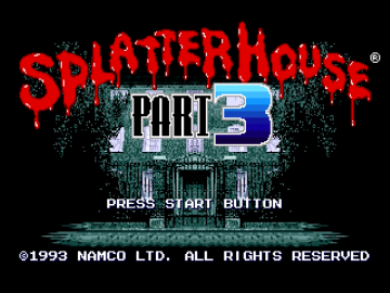 Splatterhouse Part 3 Sega Mega Drive