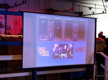 Tetris competition on the big screen