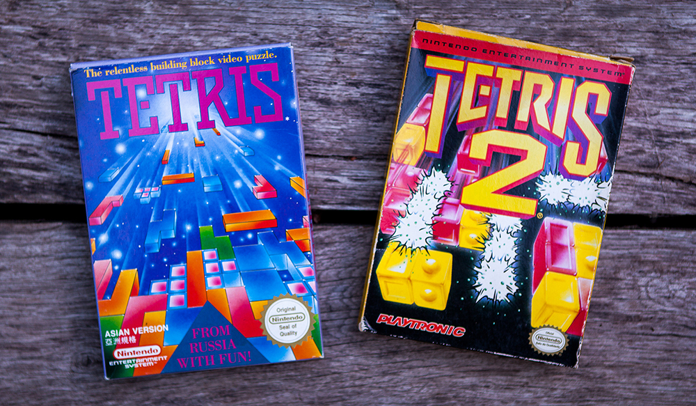 NES Tetris Asian Version and Tetris 2 Brasilian