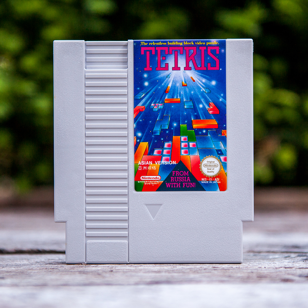 NES Tetris Asian Version light grey cartridge