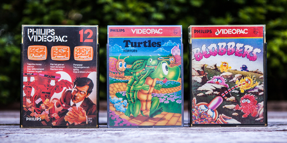 Philips Videopac Games 12 Take the money and run, 49 Turtles and 57 Blobbers