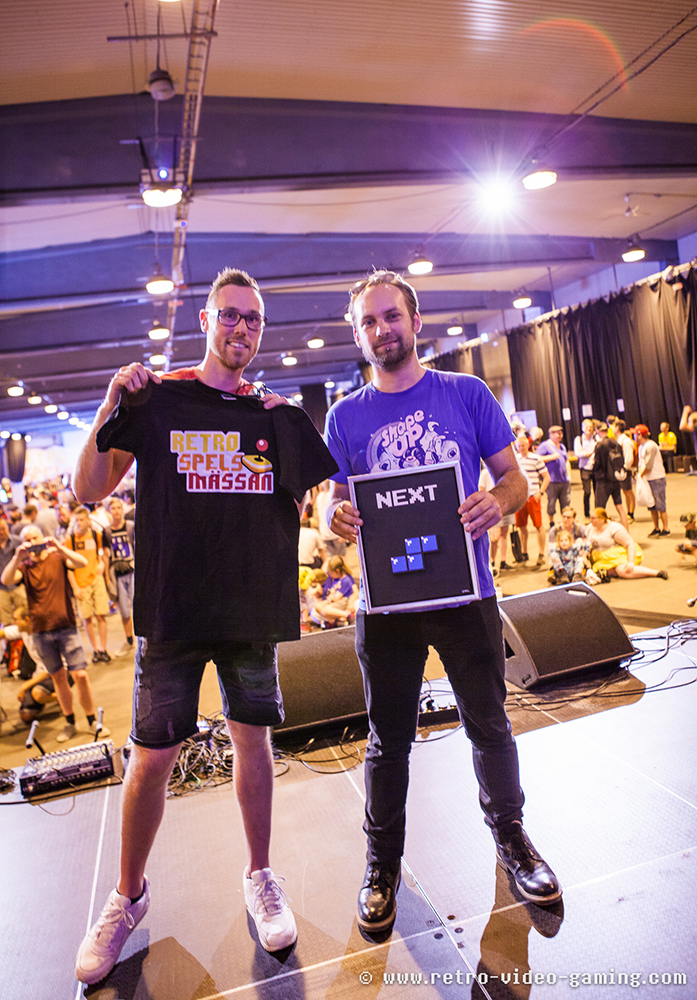 Tetris competition runner up and winner at RSM 2018